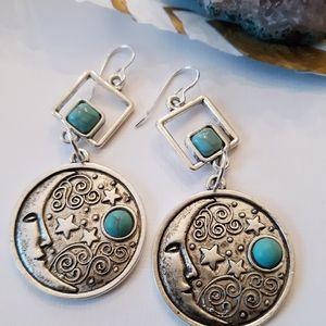 Celestial Moon & Stars Earrings NWT